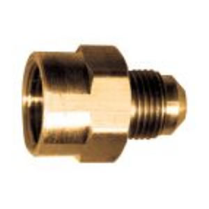 Female Flare to Male Flare Brass Adapter